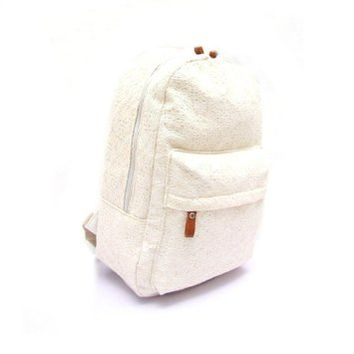 TOOPOOT(TM) Cute Girls Lace Canvas Backpack Bag Schoolbag Handbag Bookbag(White)