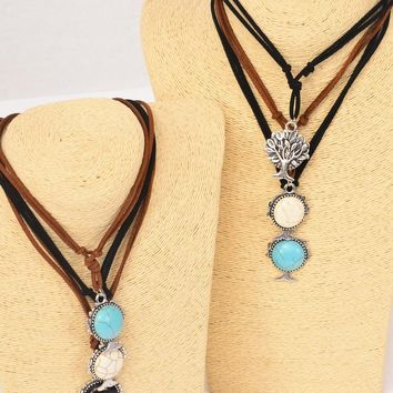 Tree Of Life Leather Necklace