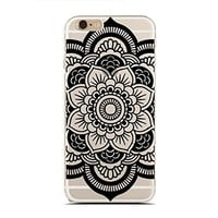 Clear Snap-On case for iPhone 6/6S PLUS - Mandala Flower (C) Andre Gift Shop
