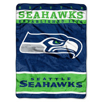Seattle Seahawks NFL Royal Plush Raschel (12th Man Series) (60in x 80in)