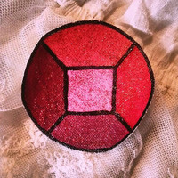 Steven Universe: Small Garnet (Square) Gem Patch