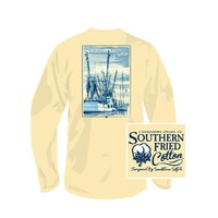 Palmetto Moon | Southern Fried Cotton Shrimp Boat Long Sleeved T-shirt | Palmetto Moon