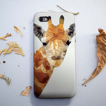 Geometric Polygon Triangle Giraffe iPhone 6/6S, 6 Plus Case 4S, 5S, Galaxy Cover. Mobile Phone Cell Gift Idea. Birthday gift. For Him, Her