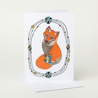 Curious Little Fox Greeting Card