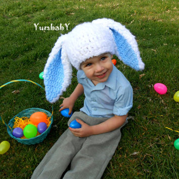 Bunny Hat for Boys Easter Photo Props Cute Boy Clothes Hats for Kids Rabbit Ears