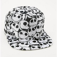 Velvet Jack Nightmare Before Christmas Snapback Hat - Spencer's