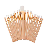 15.5*10*1.5 cm 20PCS Make Up Foundation Eyebrow Eyeliner Blush Cosmetic Concealer Brushes Used with Powder maquillage Anne
