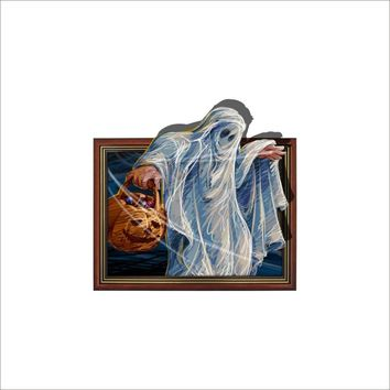 Halloween Horror Sickle Ghost 3D Stickers For Living Room