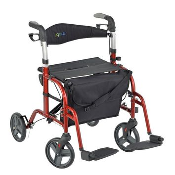 JUVO Mobi Rollator-Transport Chair Cherry Red