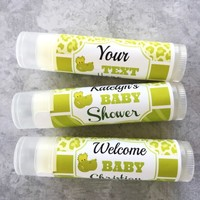 Baby Shower Custom Lip Balm – Alligator Theme