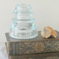 Pale Blue Glass Insulators Hemingray 42 Double Petticoat, Industrial Chic, Repurpose, Garden Art, Vintage, Paper Weight, Home Accents