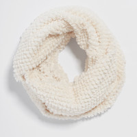 tiny square textured faux fur cowl scarf