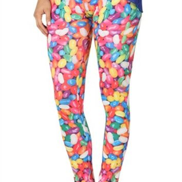 Legging with Jelly Bean Print