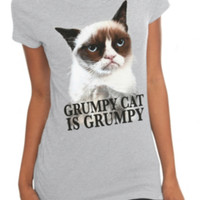 Grumpy Cat Is Grumpy Girls T-Shirt