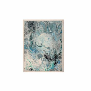 """Catherine Holcombe """"Wave Crash Marble"""" Blue Teal Abstract Coastal Painting KESS Naturals Canvas (Frame not Included)"""