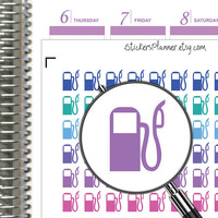 Fuelling Filling Gas Station Planner Stickers Planner for Erin Condren Planner Happy Planner Icon Stickers Gas Stickers Fuel Stickers i73-2)