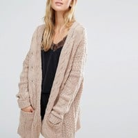 Fashion Union Oversized Cardigan In Chunky Cable Knit