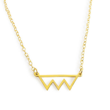 Minimalist Mini Bite Cutout Necklace