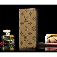 LV & GUCCI Tide brand retro old flower letter leather case anti-fall iphonex mobile phone case cover