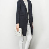 Double Wool Front Button Coat OU0303