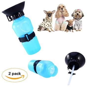 1 pc Auto Dog Water Pet Bottle Pets Dogs Outdoor Car Drinking Cup Water Feeder Portable Hang Bag Sport Travelling Bowl Cat Mug