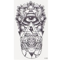 new eye of God Temporary Tattoo Sticker totem tattoo body art Waterproof fake tattoo God' s eye flash tattoos for woman men