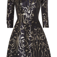 Oscar de la Renta - Metallic jacquard dress
