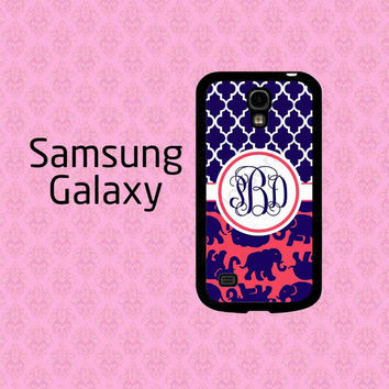 Personalized Galaxy Note 3 Case ,  Galaxy S5 Case , Lilly Pulitzer Inspired Galaxy S4 Case , Monogram Galaxy Note 2 Case