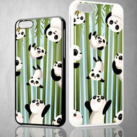 PANDA ART Y1346 iPhone 4S 5S 5C 6 6Plus, iPod 4 5, LG G2 G3 Nexus 4 5, Sony Z2 Case