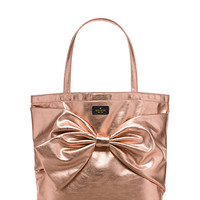 Kate Spade On Purpose Rose Gold Metallic Tote Rose Gold ONE