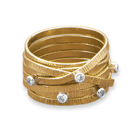12/20 Gold Filled Multiband Ring with Cubic Zirconias