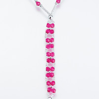 St/2 Bead Foot Jewelry-Hot pink