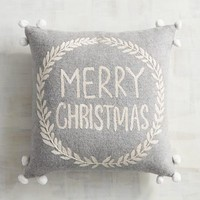 Pompom Merry Christmas Pillow