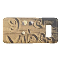 "Fun, ""Good Vibes"" Hand Drawn In Beach Sand Photo Case-Mate Samsung Galaxy S8 Case"