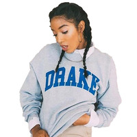 Drake Long Hoodies O neck Pullover