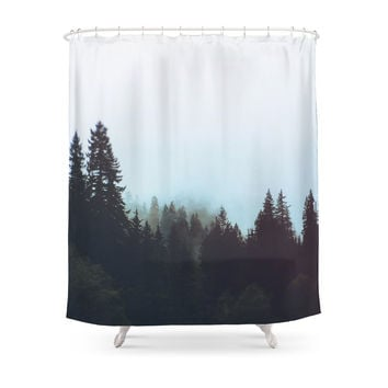 Society6 Washington Woodlands Shower Curtains