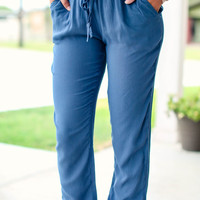 Work and Play Jogger Pants - Blue