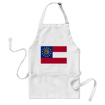 Apron with Flag of Georgia, U.S.A.