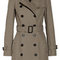 Burberry Prorsum | Mid-length cotton-gabardine trench coat | NET-A-PORTER.COM
