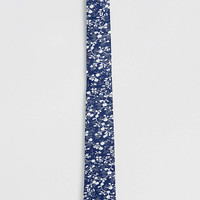 Navy Floral Print Tie - New This Week - New In - TOPMAN USA