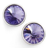 Women's Givenchy 'Crescent' Crystal Stud Earrings - Silver/ Purple