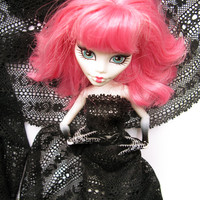 Monster High Doll Ever after high Doll doll apparel faux leather braided black belt with rhinestones fashion doll accessory