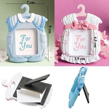 7*9cm MINI Cute Resin Pink/Blue Baby Photo Frame