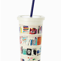 Kate Spade Like A Book Insulated Tumbler Bookshelf ONE