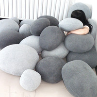 Pebble stone pillow case
