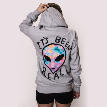 IT'S BEEN REAL • ALIEN HOODIE • GREY
