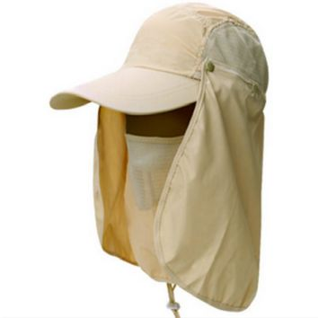 Which in shower Gardening Travel Hiking Face Neck Protector Hat Jungle Mountain Climbing Quick Dry Bucket hat Polyester Sun Cap