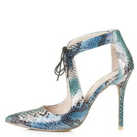 GENIE Tie-Front Court Shoes - Teal