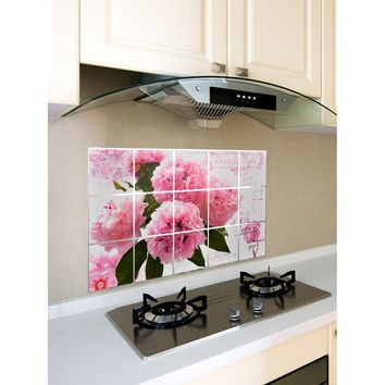 Flower Pattern Oil Proof Sticker