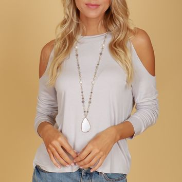 Classic Cold Shoulder Tee Cloud